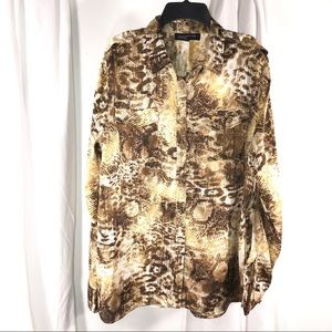 Jones New York Mixed Animal Print, Size XL